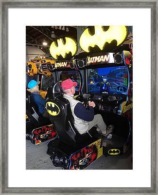 Batman And Batgirl Forever Framed Print by Richard Reeve