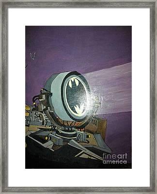 Batman Beam Framed Print by Brenda Brown