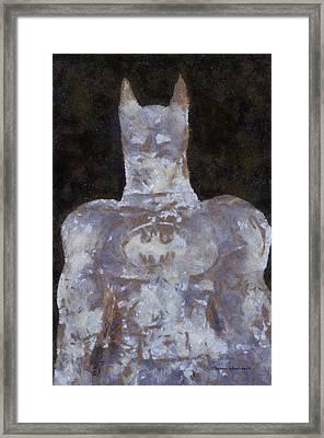 Batman Ice Sculpture Photo Art 02 Framed Print by Thomas Woolworth