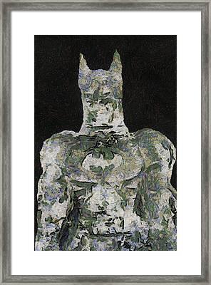 Batman Ice Sculpture Photo Art 03 Framed Print by Thomas Woolworth