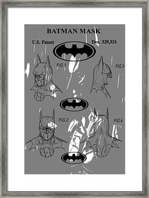 Batman Patent Poster Framed Print by Dan Sproul