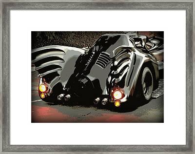 Batmobile 2 Framed Print by Cathy Smith