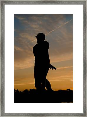 Batter At Dawn - Phillies Framed Print by Bill Cannon
