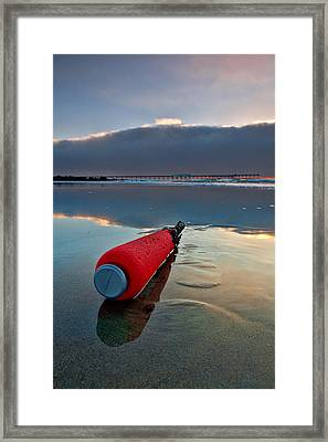 Batter-ed By The Sea Framed Print by Peter Tellone