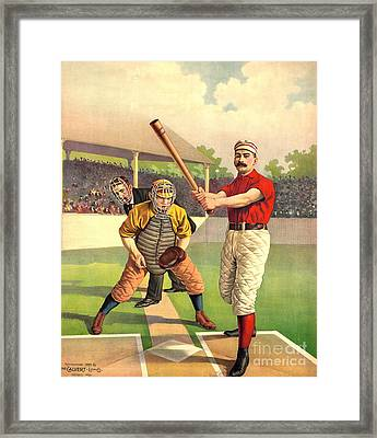 Batter Up 1895 Framed Print by Padre Art