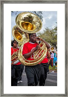 Battered Tuba Blues Framed Print by Steve Harrington