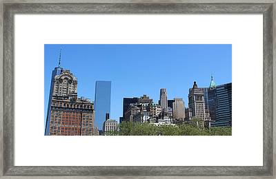 Battery Park Framed Print by Suzanne Perry