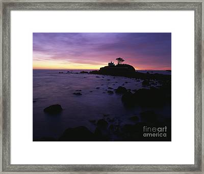 Attraction. Battery Point Lighthouse Framed Print featuring the photograph Battery Point Lighthouse At Sunset by Jim Corwin