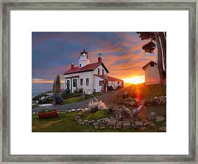 Battery Point Lighthouse Framed Print by Leland D Howard