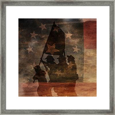 Battle Flag Silhouette 1st Of Three Framed Print by Randy Steele