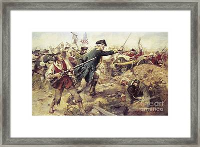Battle Of Bennington Framed Print by Frederick Coffay Yohn