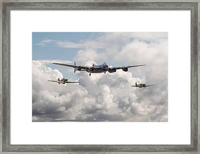 Battle Of Britain - Memorial Flight Framed Print by Pat Speirs