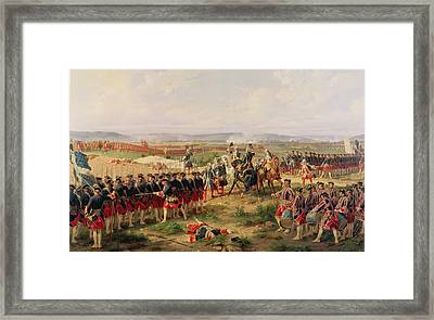 Battle Of Fontenoy, 11 May 1745 The French And Allies Confronting Each Other Framed Print by Felix Philippoteaux
