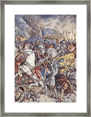 Battle Of Fornovo, Illustration Framed Print by Herbert Cole