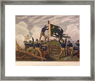 Battle Of Fort Moultrie Framed Print by Granger