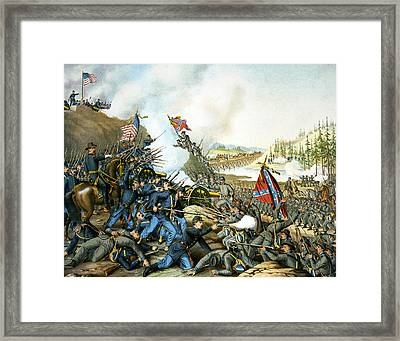 Battle Of Franklin Framed Print by Unknown