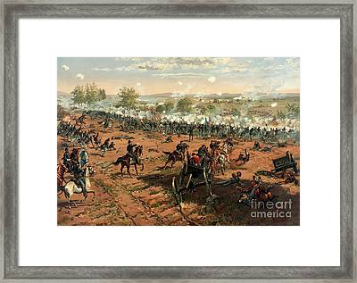Battle Of Gettysburg Framed Print by Pg Reproductions