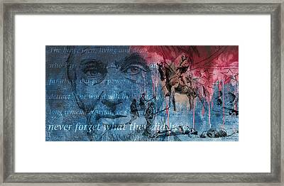Battle Of Gettysburg Tribute Day Three Framed Print by Joe Winkler