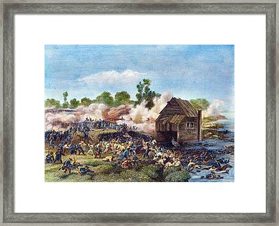 Battle Of Long Island, 1776 Framed Print by Granger