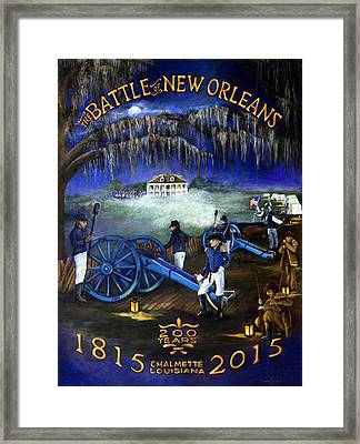 Battle Of New Orleans 200 Year Anniversary Framed Print by Elaine Hodges