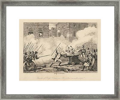 Battle Of Ross Framed Print by British Library