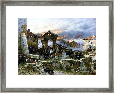 Battle Of Saint Privat Cemetary Framed Print by Pg Reproductions