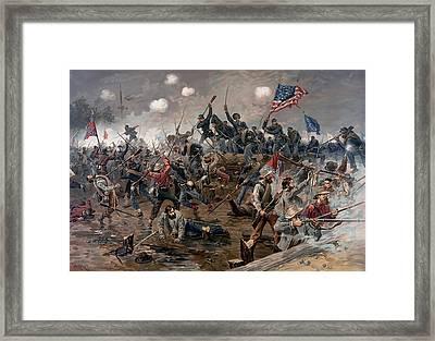 Battle Of Spotsylvania Framed Print by Mountain Dreams
