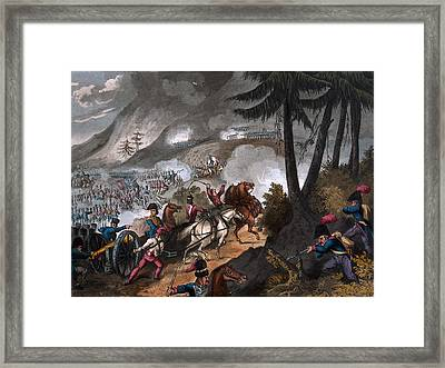Battle Of The Pyrenees In 1813 Framed Print by William Heath
