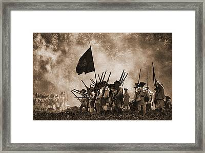 Battle Of Wyoming II Framed Print by Jim Cook