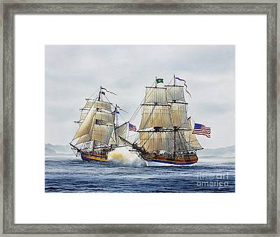 Battle Sail Framed Print by James Williamson