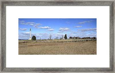 Battlefield At Gettysburg National Military Park Framed Print by Brendan Reals