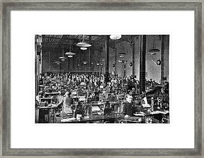 Baudot Telegraph System Framed Print by Science Photo Library