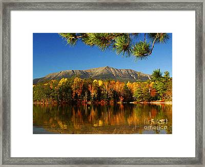 Baxter Fall Reflections  Framed Print by Alana Ranney