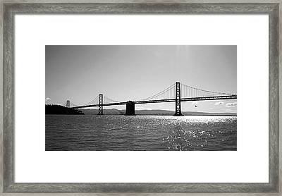 Bay Bridge Framed Print by Rona Black