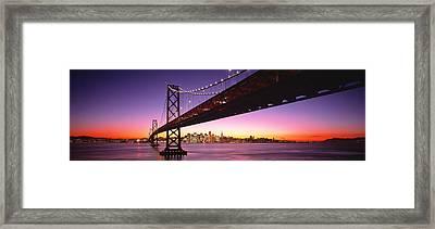 Bay Bridge San Francisco Ca Usa Framed Print by Panoramic Images