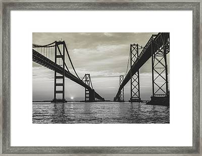 Bay Bridge Strong Framed Print by Jennifer Casey