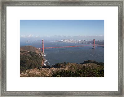 Bay From Marin Framed Print by Alison Miles