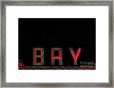Bay In Neon  Framed Print by Kris Hiemstra