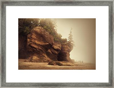 Bay Of Fundy Framed Print by Magda  Bognar