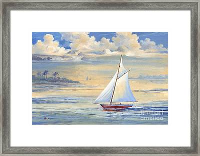 Bay Of Palms Framed Print by Paul Brent