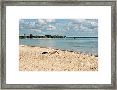 Bay Of Pigs Woman Framed Print by Andrea Simon