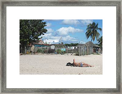 Bay Of Pigs Woman II Framed Print by Andrea Simon