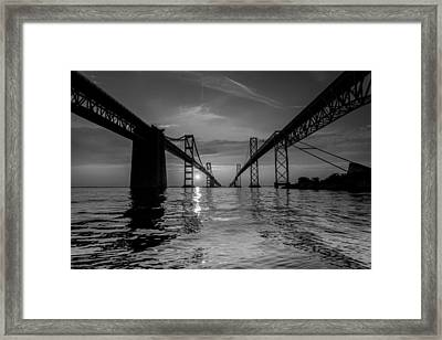 Bay Bridge Strength Framed Print by Jennifer Casey