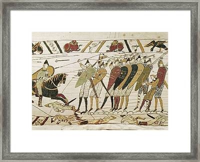 Bayeux Tapestry. 1066-1077. Tapestry Framed Print by Everett