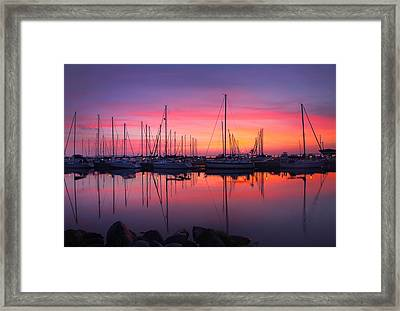 Bayfield Wisconsin Magical Morning Sunrise Framed Print by Wayne Moran