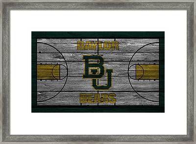 Baylor Bears Framed Print by Joe Hamilton