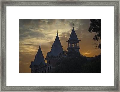 Baylor Dawn Framed Print by Joan Carroll