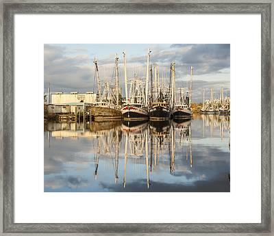 Bayou Labatre' Shrimp Boat Reflections 22 Framed Print by Jay Blackburn