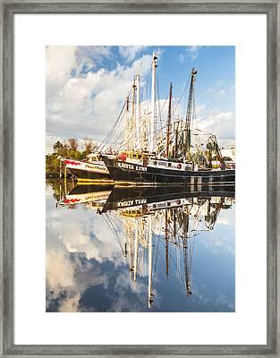 Bayou Labatre' Shrimp Boat Reflections 35 Framed Print by Jay Blackburn