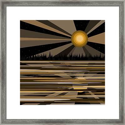 Bayou Moonshine - Moon Light Framed Print by Val Arie